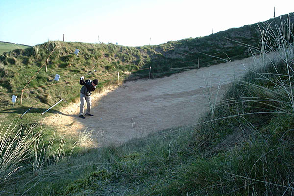 St Enodoc Golf Club 6th hole Himalayas bunker