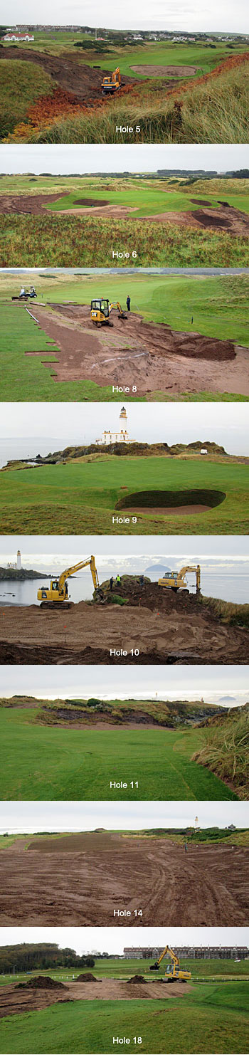 Turnberry Ailsa course facelift progress October 2015