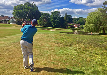 Approaching the 18th green - Woking Golf Club