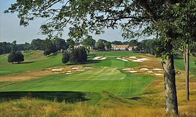 The closing hole at Bethpage Black provides one final test to overcome