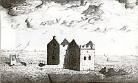 The ruins of Kinkell Castle in 1767