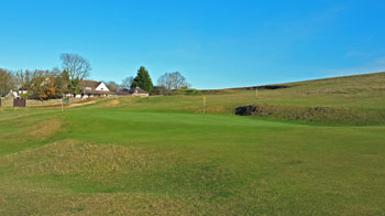 Cleeve Hill's home green