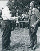 Henry Cotton (left) opening the 9-hole course - June 1968