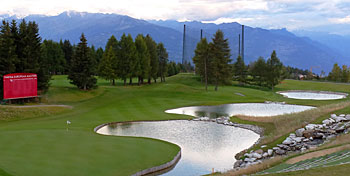 Crans-sur-Sierre 13th hole