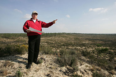 Tom Fazio at the site of Portugal's proposed 2018 Ryder Cup course