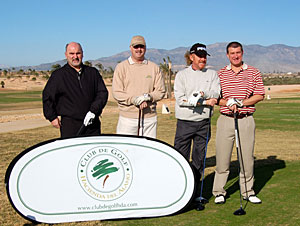 Jim Patrick (The Sun), Ray Scott (Waterford Star), Miguel Angel Jimenez, Andy Newmarch (Top 100)