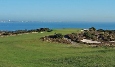 Isle of Purbeck approach to 5th hole