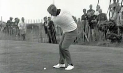 Jack Nicklaus in the final round at the 1968 Open at Carnoustie