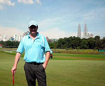 Andy almost blocks out the twin towers - Royal Selangor (New) 10th