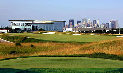 Liberty National 18th hole