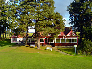 The idyllically set Pitlochry clubhouse - image by Martin Jordan