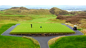 New 1st tee on Strand course - photo by Bernard Findlay Dec 2009