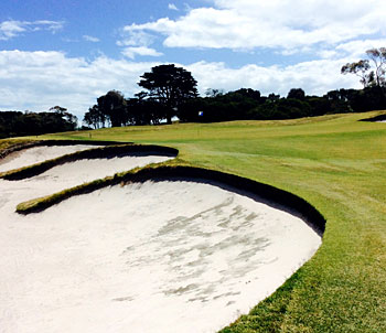 Royal Melbourne West course 2nd hole