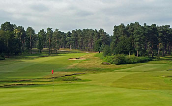 Swinley Forest Golf Club - 18th green and 1st hole