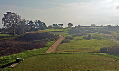 Teignmouth Golf Club 16th hole - Hell's Mouth