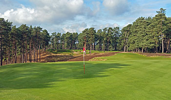 The Berkshire Red course - looking back down the 10th