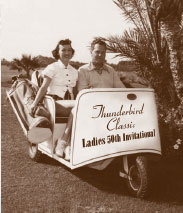Early golf cart at Thunderbird