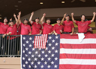 Team USA celebrates on the clubhouse balcony following their Ryder Cup victory (Photo: E.M. Pio-roda, PGA.com)