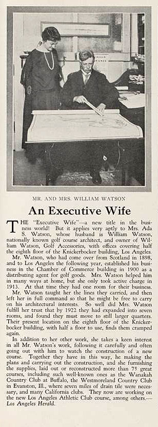 William & Ada Watson from The Country Club Magazine and Pacific Golf & Motor