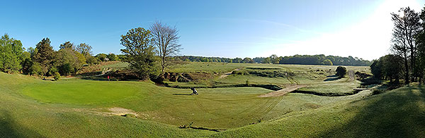 Bramshaw (Forest) Golf Course - 6th green panorama