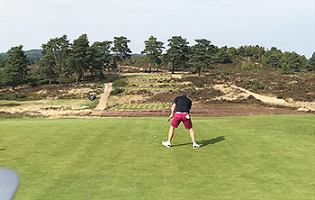 Hankley Common Golf Course - Photo by reviewer - birdies on the day were as rare as sightings of the club emblem Hankley Fox but managed to sneak this one at the signature par 3 seventh