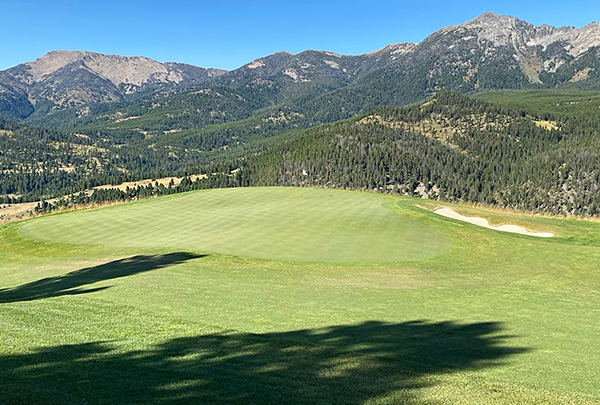 Moonlight Basin Golf Course - 5th green - Photo by reviewer