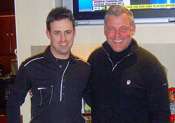 Course reviewer Simon with Darren Clarke at Queenwood