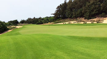 Shanqin Bay Golf Course - 4th Green - Photo by reviewer