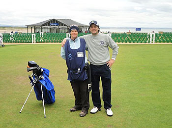 St Andrews (Old) Golf Course - reviewer and caddy