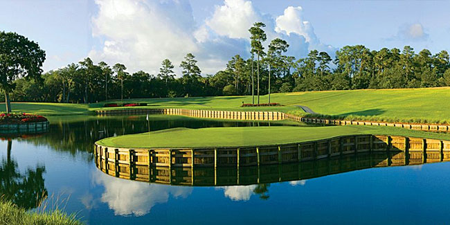 The most iconic Dye hole - the Stadium 17th at TPC Sawgrass