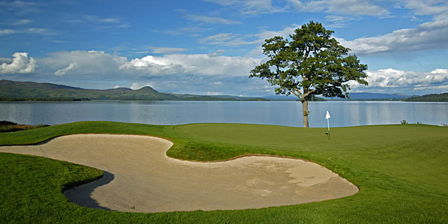 Loch Lomond was the first American-designed course built in Scotland