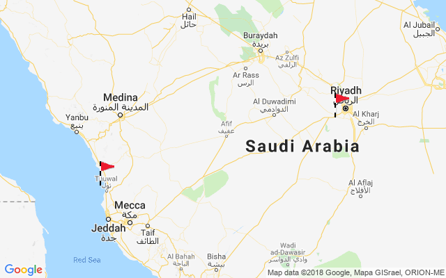Map of Saudi Arabia