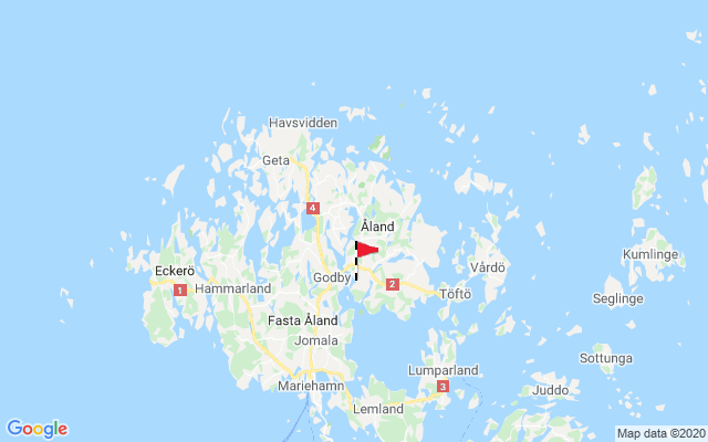 Map of Åland Islands