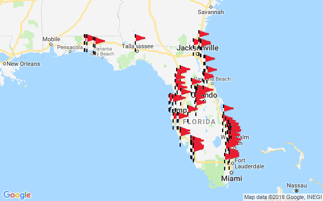 Map Of The State Of Florida.Florida Best In State Golf Courses