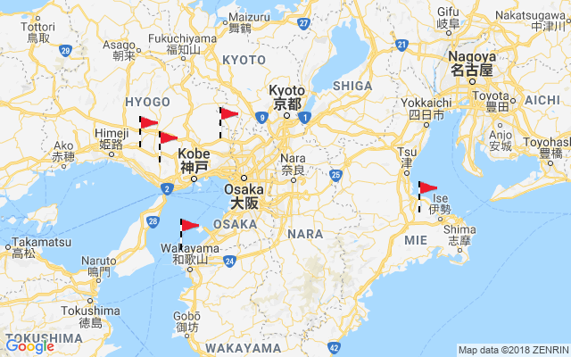 Map of Kinki (Kansai)