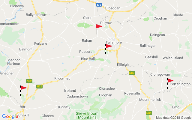 Map of Offaly