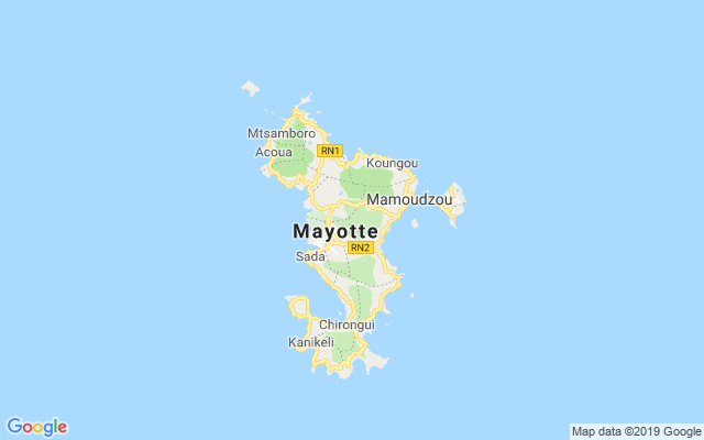 Map of Mayotte