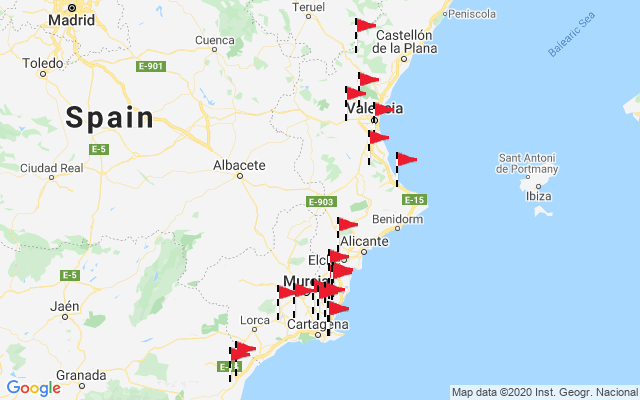 Map Of South East Spain.South East Spain Top 100 Golf Courses